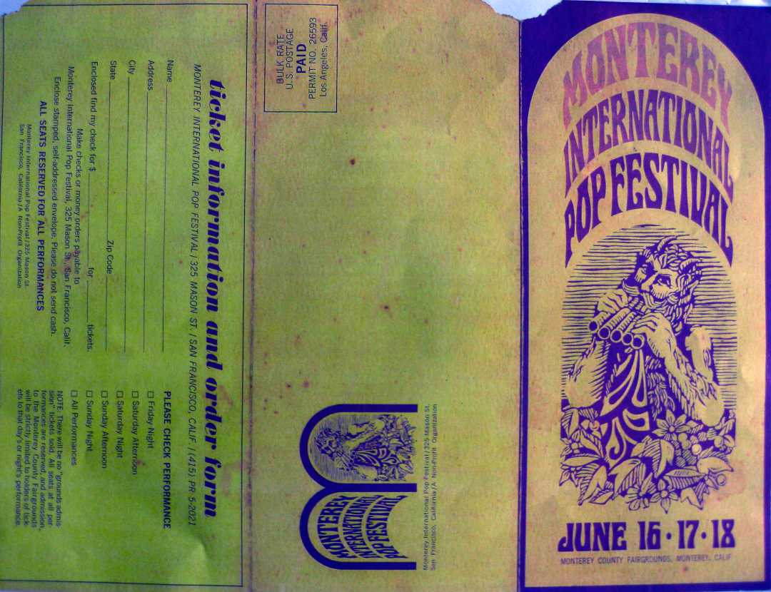 Front of the Monterey Pop Festival Program