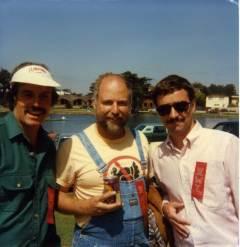 James Popkey with Tam McPartland and Jack McCornack - 1986