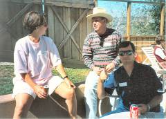 James Popkey with wife Colleen and Bill Wyman - 1991