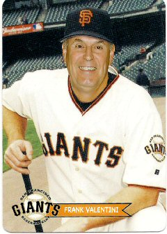 Frank Valentini - 2009 in SF Giants Uniform