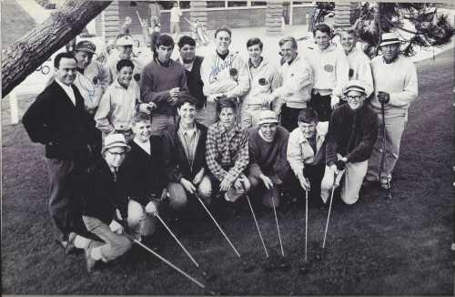Coach Lebeck with 1966 Golf Team